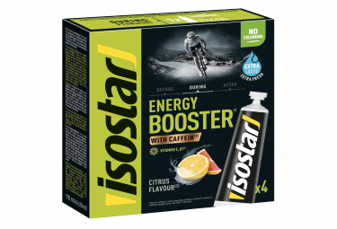 ISOSTAR Energy Booster Liquid Caffeine Gel 40g Mint Taste 3x40g