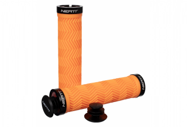 Paire de Grips Neatt Lock On Wave Orange Néon