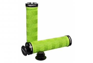 Paire de Grips Neatt Lock On Wave Vert Néon