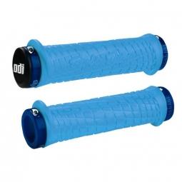Paire de grips ODI-Troy Lee Designs Signature MTB Bleu 130 mm
