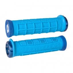 Pack poignee ODI elite pro lock on 130mm bleu