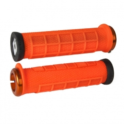 Pack poignee odi elite pro lock on 130mm orange 130