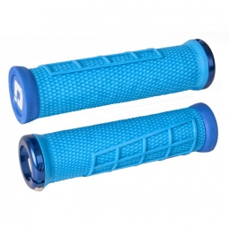 paire de grips odi elite flow bleu 130 mm 130