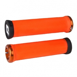 Pack poignee ODI elite motion lock on 130mm orange