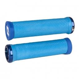 Paire de grips ODI Elite Motion Bleu 130 mm Lock-on Bleu