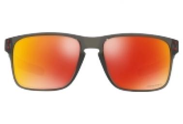 OAKLEY Sonnenbrille Holbrook Mix Grey Smoke Prizm Rubin Polarisiert Ref: OO9384 0757