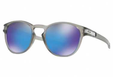Oakley Latch Sunglasses Clear - Blue Prizm Polarized Ref OO9265-3253