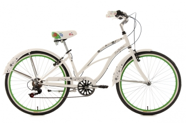 Beachcruiser26´´ Bellefleur blanc TC 40 cm KS Cycling