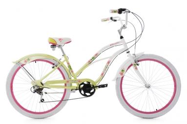 Beachcruiser 26'' Paradiso blanc-vert 6 vitesses TC 42 cm KS Cycling