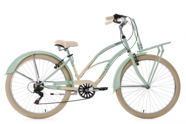 Beachcruiser Cargo 26´´ Kahuna vert menthe-beige TC 41 cm KS Cycling