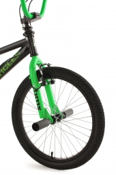 BMX freestyle 20´´ Circles noir-vert V Brake KS Cycling