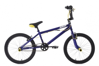 Bmx freestyle 20 hedonic bleu jaune ks cycling 20