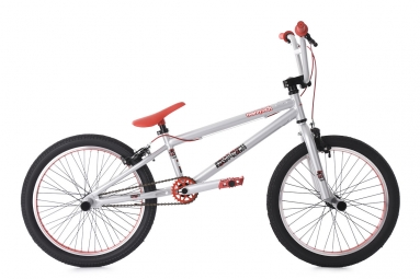 Bmx freestyle 20 twentyinch argent rouge ks cycling 20
