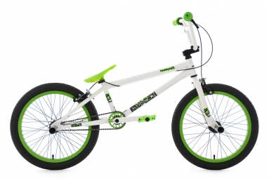 Bmx freestyle 20 twentyinch blanc vert ks cycling 20
