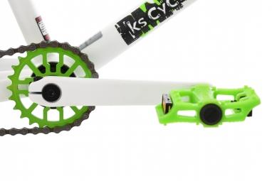 BMX Freestyle 20´´ Twentyinch blanc-vert KS Cycling