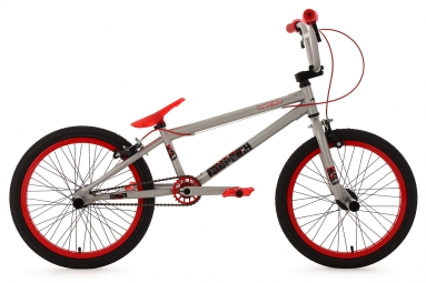 Bmx freestyle 20 twentyinch gris rouge 4 pegs ks cycling 6 9
