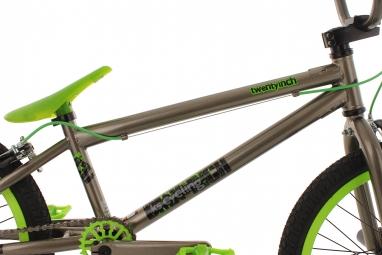 BMX Freestyle 20´´ Twentyinch gris vert 4 Pegs KS Cycling