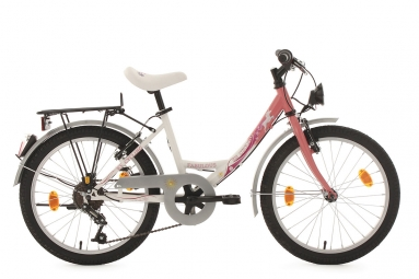 velo enfant 20 fabulous blanc rose tc 34 cm ks cycling