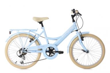 velo enfant 20 toscana 6 vitesses bleu clair tc 35 cm ks cycling