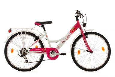 Velo enfant 24 cherry heart blanc rose tc 36 cm ks cycling