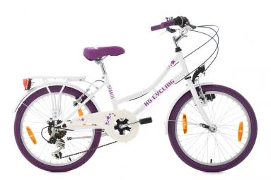 velo enfant starlit 20 blanc violet tc 30 cm ks cycling