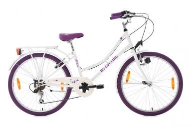 velo enfant starlit 24 blanc violet tc 36 cm ks cycling