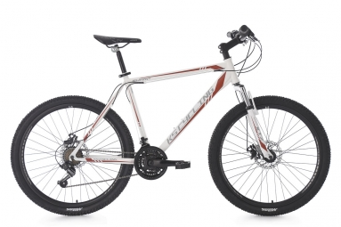 Vtt semi rigide 26 sharp blanc rouge tc 51 cm ks cycling l 177 187 cm
