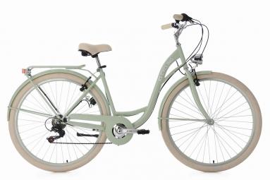 Velo de ville femme 28 ks cycling balloon shimano tourney 6v vert 48 cm 155 165 cm