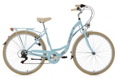 Velo de ville dame 28 casino bleu clair 6 vitesses tc 48 cm ks cycling 48 cm 155 165