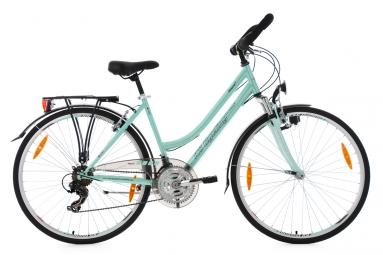 vtc pour dame 28 vegas menthe guidon multiposition ks cycling 48 cm 155 165 cm