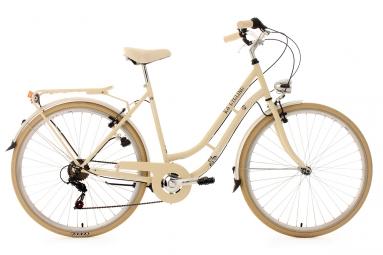 Velo de ville femme 28 ks cycling casino shimano tourney 6v beige 53 cm 162 172 cm