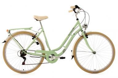 Velo de ville femme 28 ks cycling casino shimano tourney 6v vert 53 cm 162 172 cm