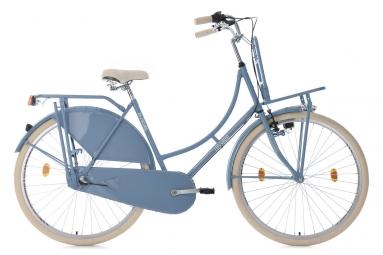 velo hollandais 28 tussaud 3 vitesses bleu avec porte bagages avant tc 54 cm ks cycl