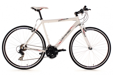 velo route alu 28 lightspeed blanc ks cycling 58 cm 179 187 cm
