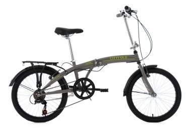 velo pliable 20 cityfold gris tc 27 cm ks cycling unique 165 185 cm