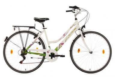 Velo de ville femme 28 ks cycling papilio shimano tourney 6v blanc 48 cm 155 165 cm