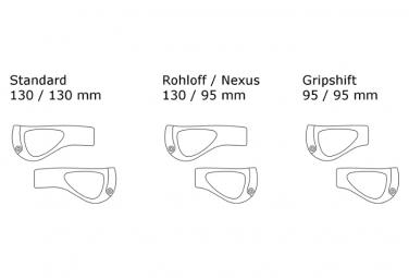 Ergon GP1 Rohloff / Nexus Griffe Schwarz