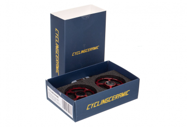 CiclismoCeramic Jockey Wheels Dura-Ace / Ultegra 10 / 11s Red