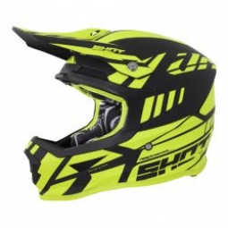 Casque integral shot furious riot jaune m 57 58 cm