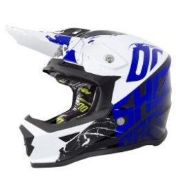 Casque integral shot furious venom bleu kid m 49 50 cm