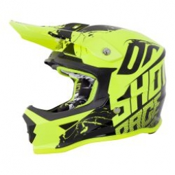 Casque integral shot furious venom jaune kid m 49 50 cm