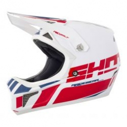 Casque integral shot revolt blanc rouge kid m 51 52cm