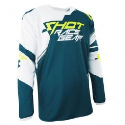 maillot shot contact claw teal blue neon yellow t l m