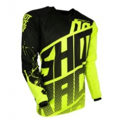 maillot shot contact venom neon yellow t xl s