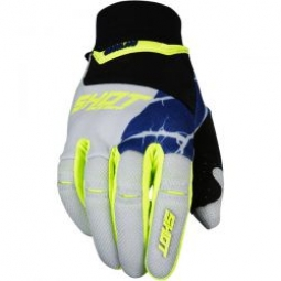 Image of Gants longs shot aerolite magma gris jaune m