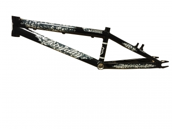 Cadre ROYALTY BMX Slingshot Noir, Taille: Pro XXL