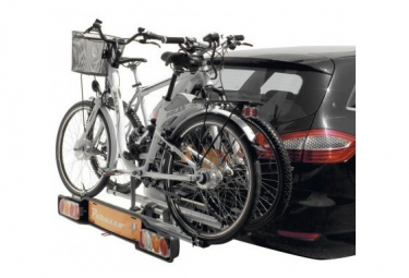 Peruzzo Parma E-Bike Porte vélo sur attelage pour 2 vélos .