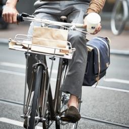 Porte-bagage avant aluminium avec rebords Portland Basil