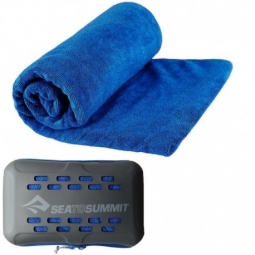 Serviette microfibre m 50x100 tek towel sea to summit bleu marine
