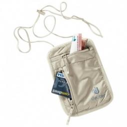 Pochette tour de cou Deuter Security Wallet 1 sable